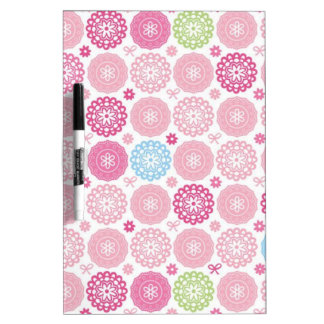 Pink polkaDots Dry Erase Whiteboard
