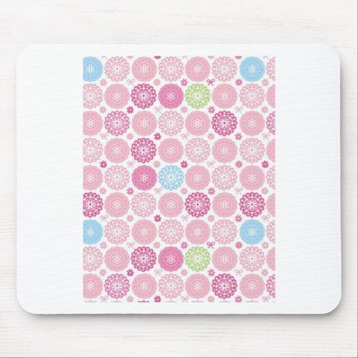 Pink polkaDots Mousepad