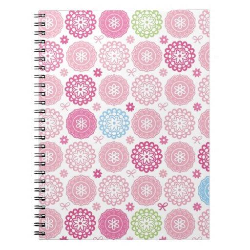 Pink polkaDots Spiral Notebook