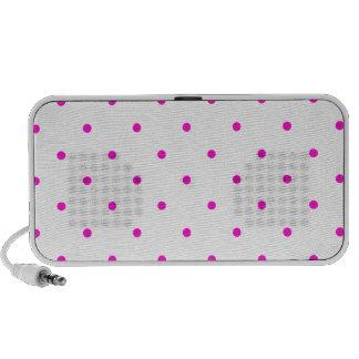 Pink Polkadots Small Mp3 Speaker