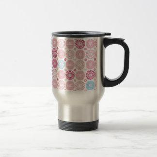 Pink polkaDots Stainless Steel Travel Mug