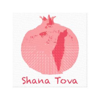 "Pink Pomegranate Shana Tova12"" x 12"", 1.5"", Single Gallery Wrapped Canvas"