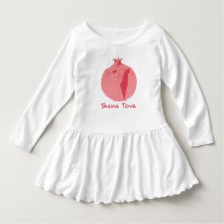 Pink Pomegranate Shana Tova Toddler Ruffle Dress