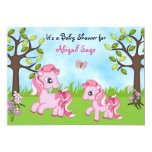 Pink Ponies Horse Baby Shower Invites ~ Girls 13cm X 18cm Invitation Card