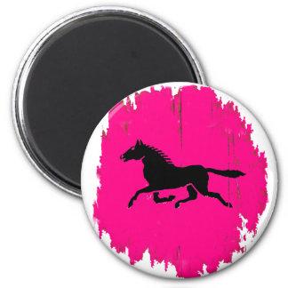 pink pony 6 cm round magnet