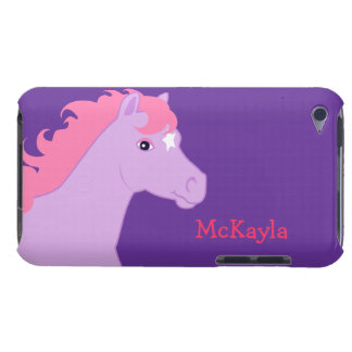Pink Pony Personalized iPod Case Barely There iPod Cases
