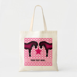 Pink Pony Personalized Tote Bag