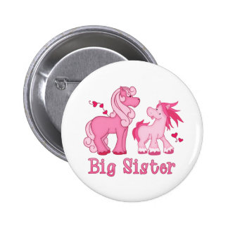 Pink Ponys Big Sister 6 Cm Round Badge
