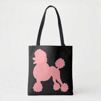 Pink Poodle Canvas Tote Bag
