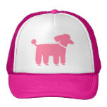 Pink Poodle Dog Graphic Cap