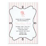 Pink Poodle in Paris Birthday Invitations