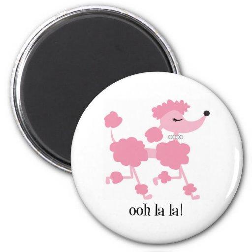 pink poodle fridge magnets