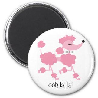 pink poodle magnet