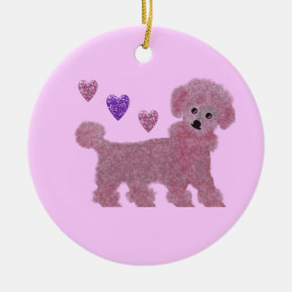 Pink Poodle Ornaments