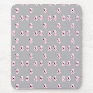 Pink Poodle Pattern Mousepad
