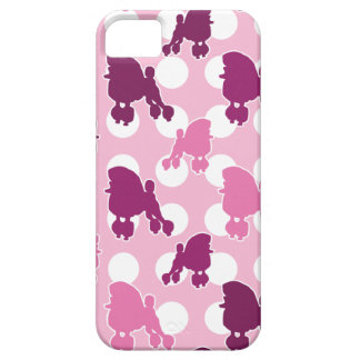 Pink Poodle Polka Dot iPhone 5 Cases