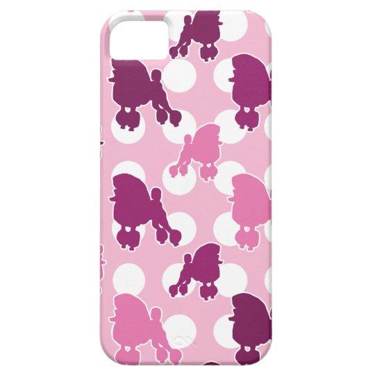 Pink Poodle Polka Dot iPhone 5 Cases