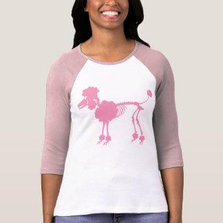 Pink Poodle Skeleton Tee Shirts