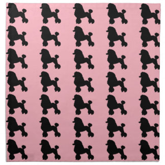 Pink Poodle Skirt Inspired Cloth Napkins