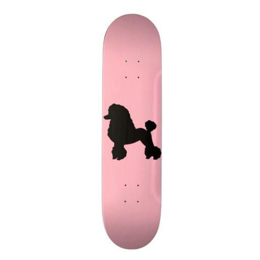 Pink Poodle Skirt Inspired Skateboard