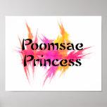 Pink Poomsae Princess Poster Print