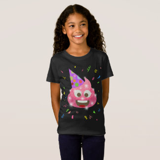 Pink Poop Funny Kids Emoji Birthday Party T-Shirt