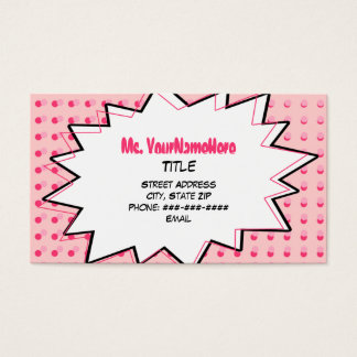 Pink Pop Art Business Card