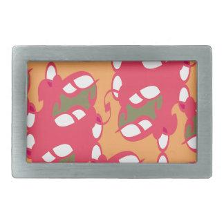 Pink Pop Art Lace Belt Buckle