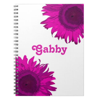 Pink Pop Art Sunflower Notebook