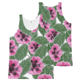 Pink Poppies All-Over Print Tank Top
