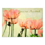 Pink Poppies and Floral Swirls