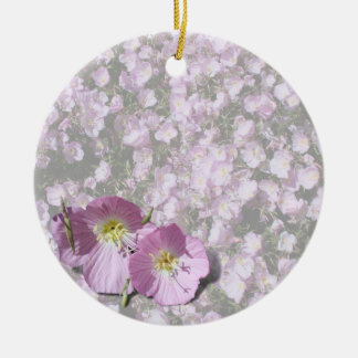 Pink Poppies Christmas Ornament