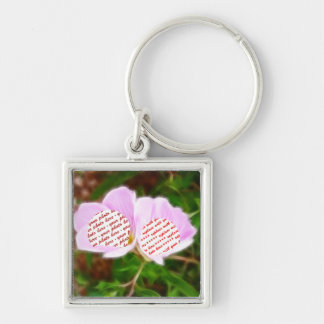 Pink Poppies Dual Photo Frame Key Chain