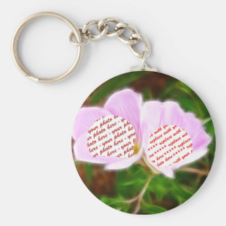Pink Poppies Dual Photo Frame Keychain