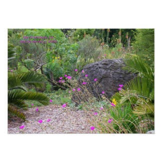 Pink Poppies Garden Print - Select Your Frame