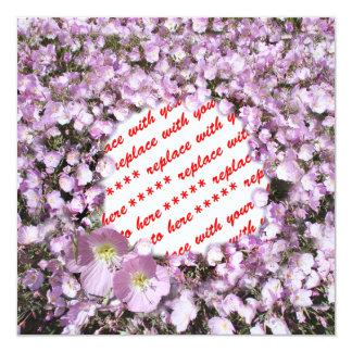 Pink Poppies Photo Frame 13 Cm X 13 Cm Square Invitation Card