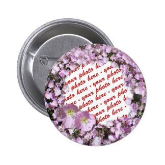 Pink Poppies Photo Frame 6 Cm Round Badge