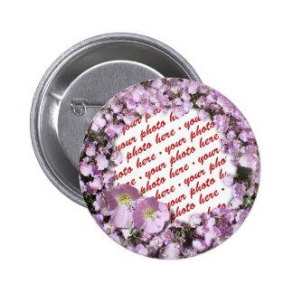 Pink Poppies Photo Frame 6 Cm Round Badge