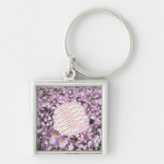 Pink Poppies Photo Frame Keychains