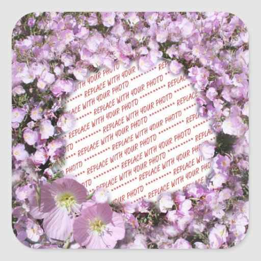 Pink Poppies Photo Frame Sticker
