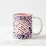 Pink Poppies Photo Frame Two-Tone Mug