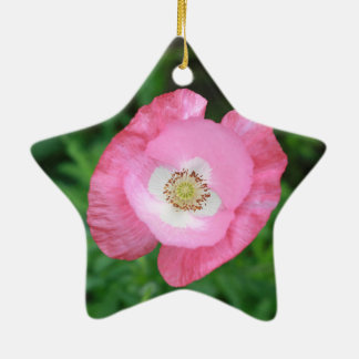 Pink Poppy Christmas Ornament