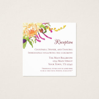 Pink Poppy Garden Recepton Card (100 ct)