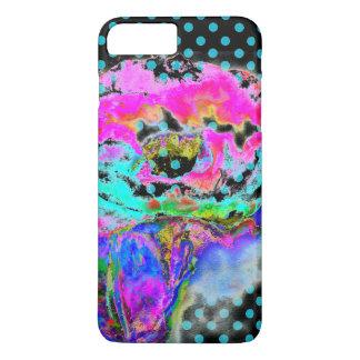 Pink Poppy teal/black polka-dots iPhone 7 Plus Case