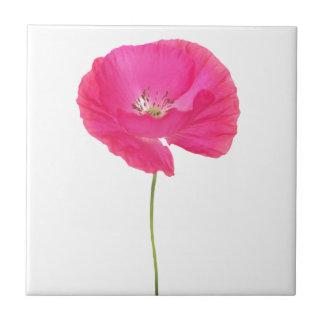 pink poppy tile