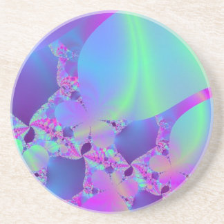 Pink Portal to Green Universe Beverage Coaster