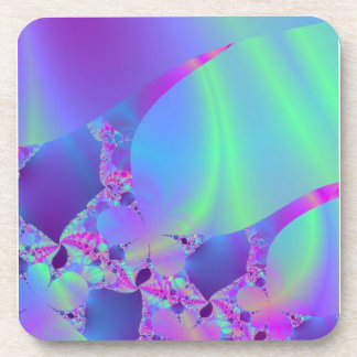 Pink Portal to Green Universe Drink Coasters