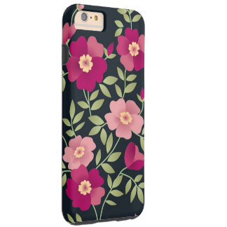 Pink Posies Tough iPhone 6 Plus Case