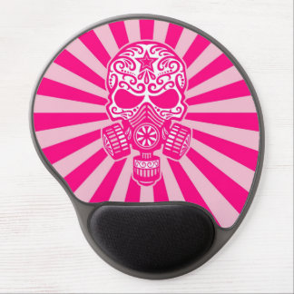 Pink Post Apocalyptic Sugar Skull Gel Mouse Mats