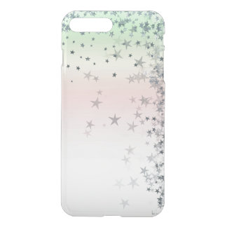 Pink Powder Mint Ombre Silver Glitter Stars iPhone 8 Plus/7 Plus Case
